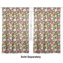 "Apples & Oranges Curtains - 40""x63"" Panels - Lined (2 Panels Per Set) (Personalized)"