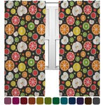 Apples & Oranges Curtains (2 Panels Per Set) (Personalized)