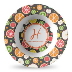 Apples & Oranges Plastic Bowl - Microwave Safe - Composite Polymer (Personalized)