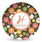 Apples & Oranges Microwave Safe Plastic Plate - Composite Polymer (Personalized)