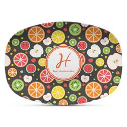 Apples & Oranges Plastic Platter - Microwave & Oven Safe Composite Polymer (Personalized)