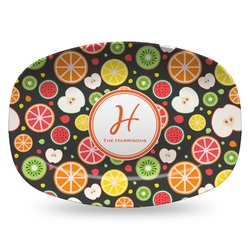 Apples & Oranges Plastic Platter - Microwave & Oven Safe Composite Polymer (Personalized)