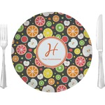 """Apples & Oranges Glass Lunch / Dinner Plates 10"""" - Single or Set (Personalized)"""