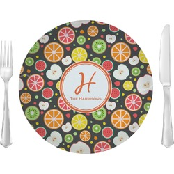 "Apples & Oranges Glass Lunch / Dinner Plates 10"" - Single or Set (Personalized)"