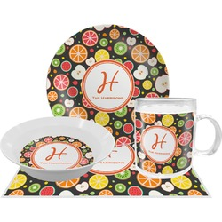 Apples & Oranges Dinner Set - 4 Pc (Personalized)