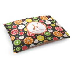 Apples & Oranges Dog Pillow Bed (Personalized)