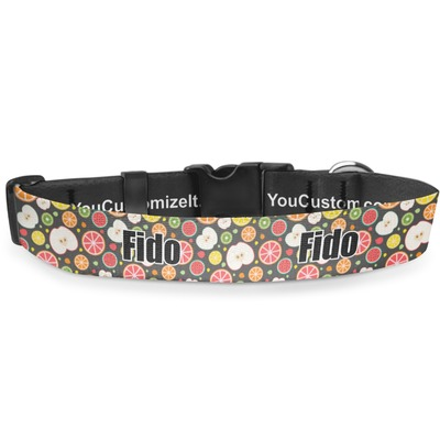 Apples & Oranges Deluxe Dog Collar (Personalized)
