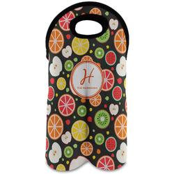 Apples & Oranges Wine Tote Bag (2 Bottles) (Personalized)