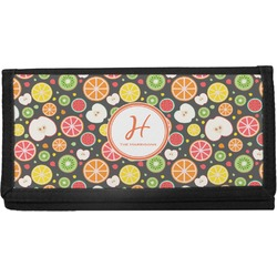 Apples & Oranges Canvas Checkbook Cover (Personalized)