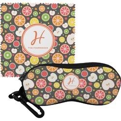 Apples & Oranges Eyeglass Case & Cloth (Personalized)