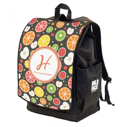 Apples & Oranges Backpack w/ Front Flap  (Personalized)