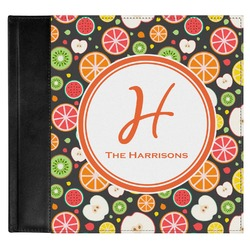 Apples & Oranges Genuine Leather Baby Memory Book (Personalized)