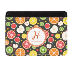 Apples & Oranges Genuine Leather Front Pocket Wallet (Personalized)
