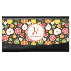 Apples & Oranges Genuine Leather Ladies Wallet (Personalized)