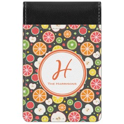 Apples & Oranges Genuine Leather Small Memo Pad (Personalized)