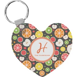 Apples & Oranges Heart Keychain (Personalized)