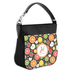 Apples & Oranges Hobo Purse w/ Genuine Leather Trim (Personalized)