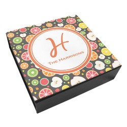 Apples & Oranges Leatherette Keepsake Box - 3 Sizes (Personalized)