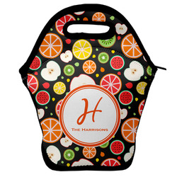 Apples & Oranges Lunch Bag w/ Name and Initial