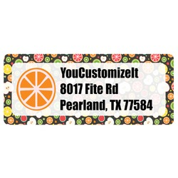 Apples & Oranges Return Address Label (Personalized)