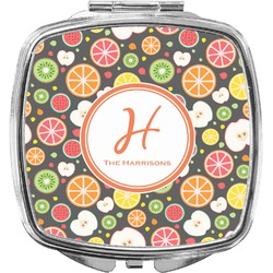 Apples & Oranges Compact Makeup Mirror (Personalized)