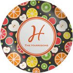 Apples & Oranges Melamine Plate (Personalized)