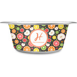 Apples & Oranges Stainless Steel Dog Bowl (Personalized)