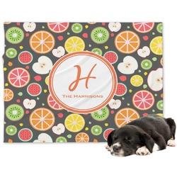 Apples & Oranges Minky Dog Blanket - Large  (Personalized)