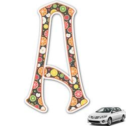 Apples & Oranges Monogram Car Decal (Personalized)