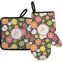 Apples & Oranges Oven Mitt & Pot Holder (Personalized)