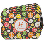 Apples & Oranges Dining Table Mat - Octagon w/ Name and Initial