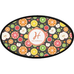 Apples & Oranges Oval Trailer Hitch Cover (Personalized)