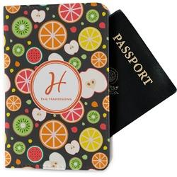 Apples & Oranges Passport Holder - Fabric (Personalized)