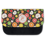 Apples & Oranges Canvas Pencil Case w/ Name and Initial