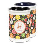 Apples & Oranges Ceramic Pencil Holder - Large