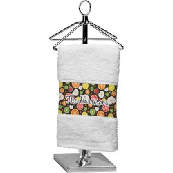 Apples & Oranges Finger Tip Towel (Personalized)