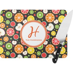 Apples & Oranges Rectangular Glass Cutting Board (Personalized)