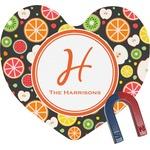 Apples & Oranges Heart Fridge Magnet (Personalized)