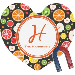 Apples & Oranges Heart Fridge Magnet (Personalized)