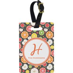 Apples & Oranges Rectangular Luggage Tag (Personalized)