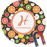 Apples & Oranges Round Magnet (Personalized)