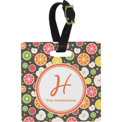 Apples & Oranges Square Luggage Tag (Personalized)