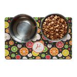 Apples & Oranges Dog Food Mat (Personalized)
