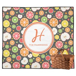 Apples & Oranges Outdoor Picnic Blanket (Personalized)