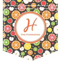 Apples & Oranges Iron On Faux Pocket (Personalized)