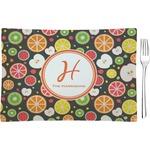 Apples & Oranges Glass Rectangular Appetizer / Dessert Plate - Single or Set (Personalized)
