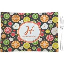 Apples & Oranges Glass Rectangular Appetizer / Dessert Plate - Single or Set (Personalized)