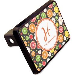 """Apples & Oranges Rectangular Trailer Hitch Cover - 2"""" (Personalized)"""
