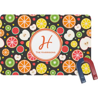 Apples & Oranges Rectangular Fridge Magnet (Personalized)