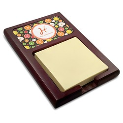 Apples & Oranges Red Mahogany Sticky Note Holder (Personalized)